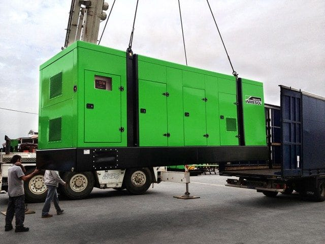 Container trucks used for large generator sets as well as in trucks of normal capacity