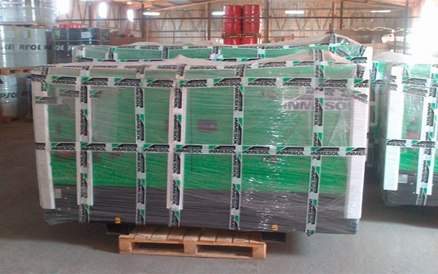 Inmesol generator sets in stock at NGRC's facilities in Luanda (Angola)