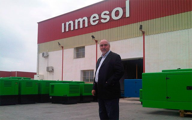 Nelson Gonzaga, NGRC manager, during his visit last year to the Inmesol factory