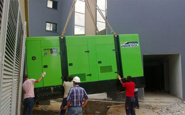 parallel generator set system in a new urban complex in Pointe-Noire