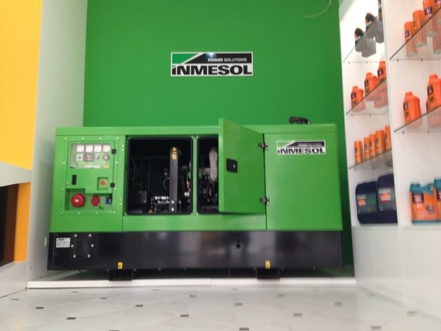 exhibition space for Inmesol generator sets in Luanda