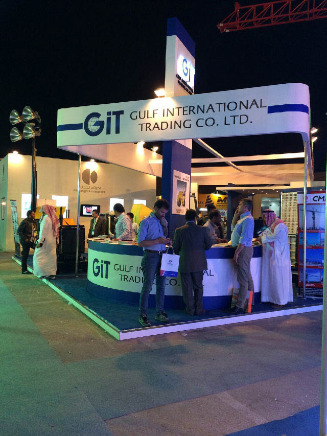 The GIT stand at Saudi Build Expo.