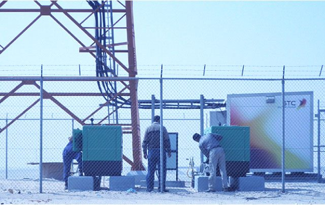 generator sets, installed at the Saudi Telecom Company.