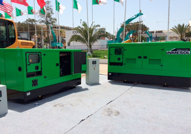 Inmesol Generator sets Stand By Range exhibited in FIA