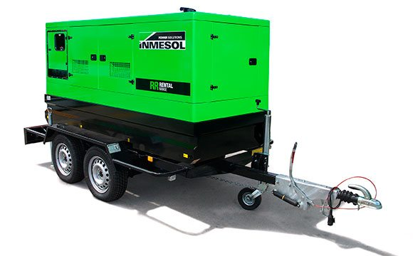 Rental Range generator on a high speed trailer
