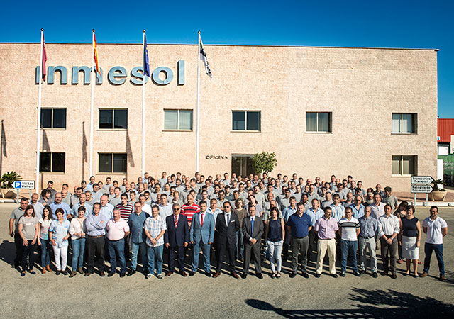 Staff of Solano Group at Inmesol facilities
