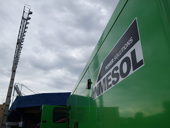 INMESOL II-440 Generator Set next to the floodlights