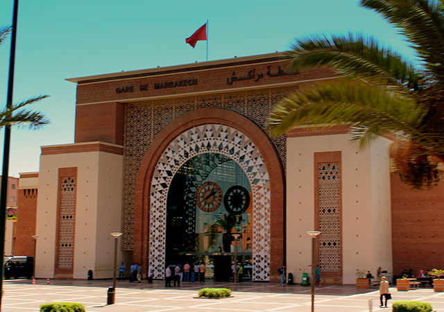 ONCF Railway Station in Marrakech. Artist: calfier001