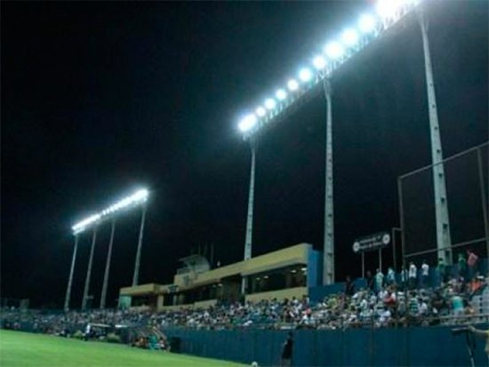 Estadio Dr. Nicolás Leoz lighting during a match. Photo taken from API (Football Association of Paraguay)