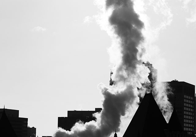 Pollutant emissions to the atmosphere