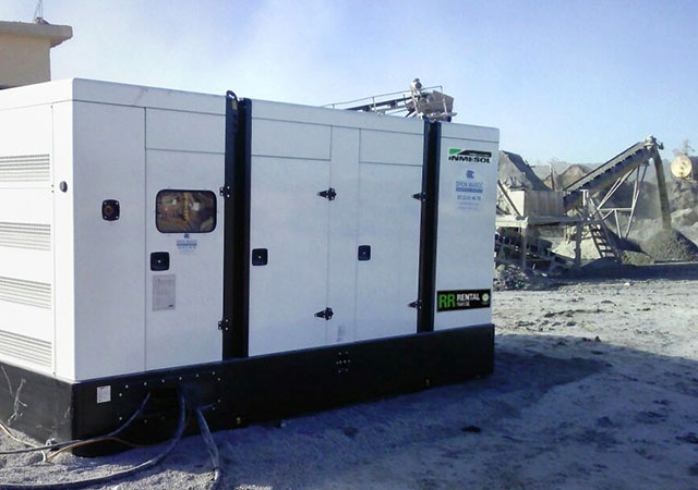 Genset working at the mining sector