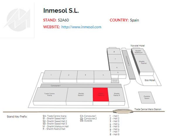 INMESOL booth location within the Dubai World Trade Centre