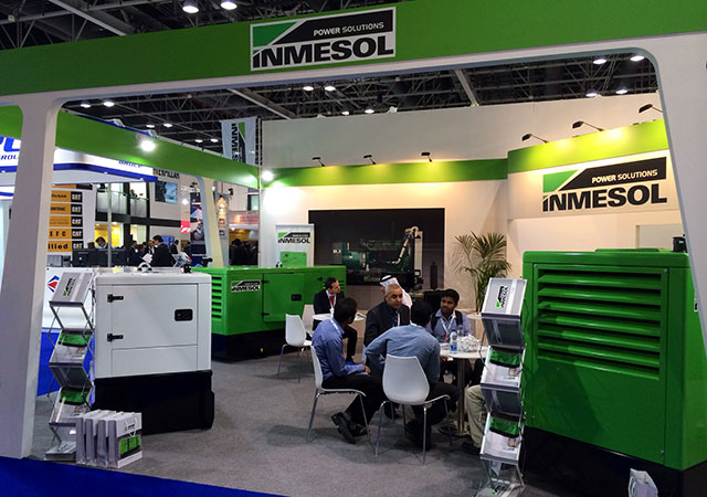 Visitors at Inmesol's booth during the last edition