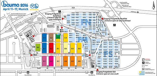 Bauma 2016 Fair Layout