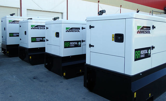 Rental gensets working in parallel