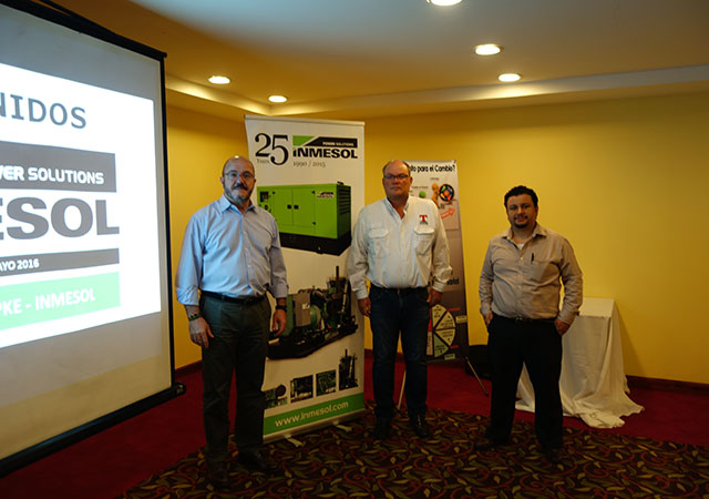 INMESOL's Luis Navarro, Mr. Allan Rasch Topke and Mr. Boris G. de León