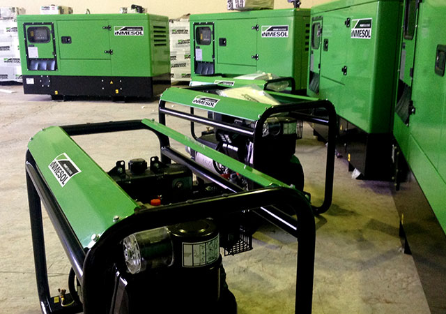 Gensets of different powers and ranges at INMESOL SL's facilities
