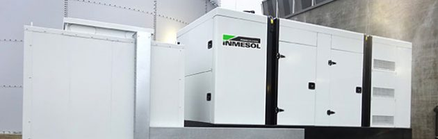 INMESOL IV700 generator set installed outside the milk products refrigerated logistics centre in Lower Saxony, Germany