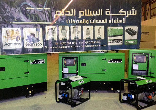 The gensets chosen among the industrial supply products distributed by Assalam Addaem