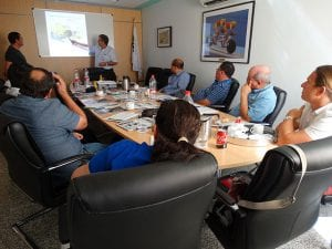 Theoretical training by Manuel Azconegui. VOLVO PENTA