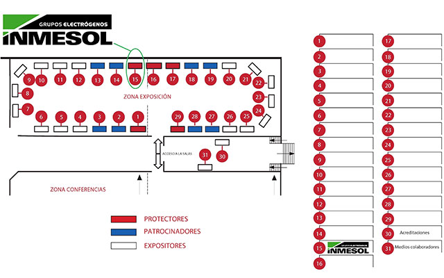 Location map: Exhibition area and Conference area