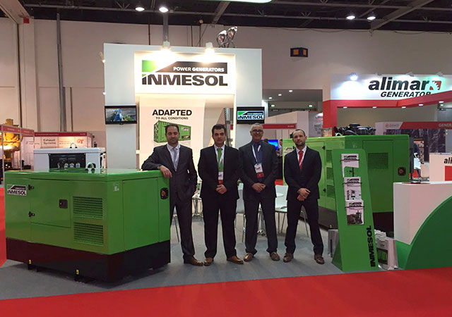 Inmesol delegation at the 2017 Middle East Electricity