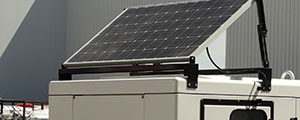 Solar power to ensure a genset's start-up