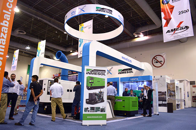 ERLUX Power Group's booth at the Expo Eléctrica Internacional Fair