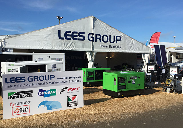 The LEES GROUP Power Solutions stand at the National Agricultural Fieldays, 2017