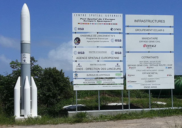 European Space Centre in Kourou or Guiana Space Centre