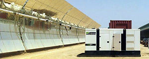 Backup INMESOL gensets working at the Ouarzazate Thermosolar Plant