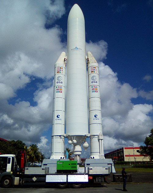 INMESOL stand-by generator set recently received at the Guiana Space Centre