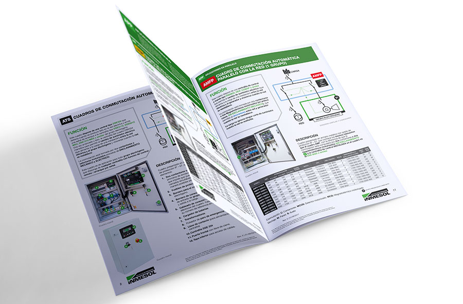 INMESOL'S NEW CATALOGUE of AUTOMATIC and AMF/ATS PANELS for generator sets