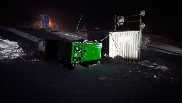 Emergency genset working 24 hours a day, 7 days a week
