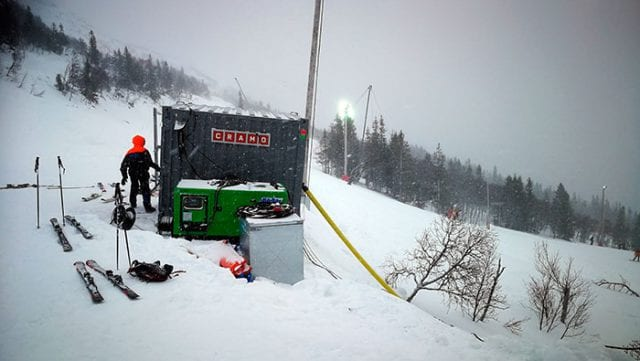 KåBe Power AB technical team controlling the genset - UPS system