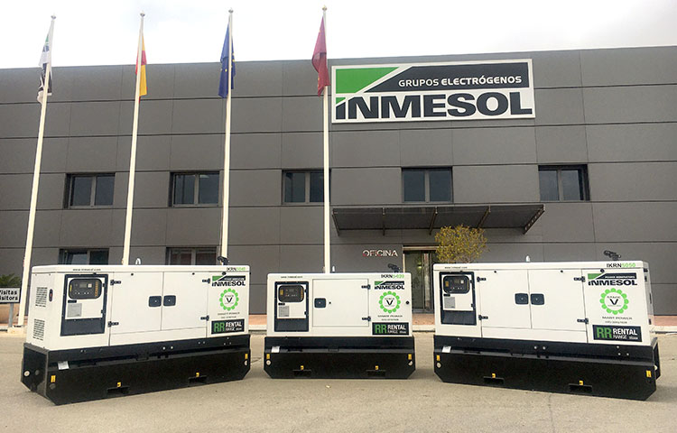 STAGEV rental range generator sets with KOHLER engine
