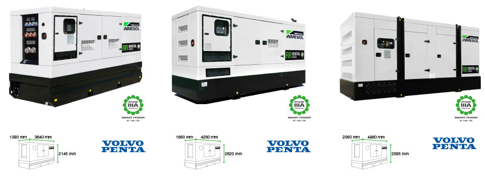 gensets canopys with ftp and volvo engines